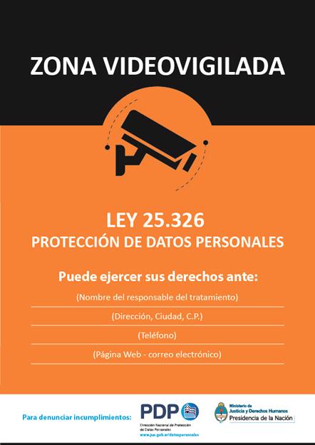 Regulaci n sobre video vigilancia marval o farrell mairal - Cartel de videovigilancia ...